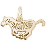 Gold Plated Zebra Charm by Rembrandt Charms