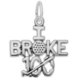 Sterling Silver Golf Charm I Broke 100 by Rembrandt Charms