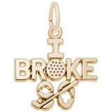 14K Gold Golf Charm I Broke Ninety by Rembrandt Charms