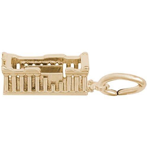 Gold Plated Parthenon Charm by Rembrandt Charms