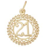 14K Gold Victory Number Charm 0-99 by Rembrandt Charms