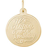 Gold Plated Happy Birthday Disc Charm