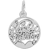 Sterling Silver Happy Birthday Charm by Rembrandt Charms