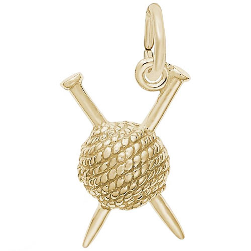 14K Gold Knitting Charm by Rembrandt Charms