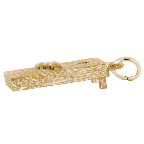 14k Gold Corn Hole Game Charm by Rembrandt Charms