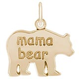 14k Gold Mama Bear Charm