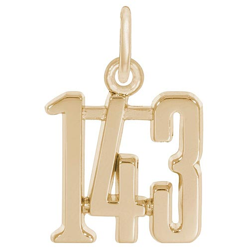 I Love You Charm in 14k Gold