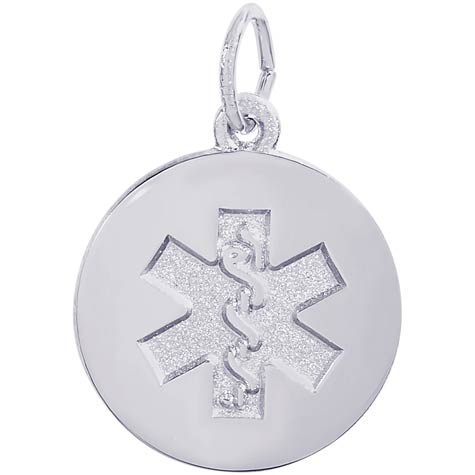 14k White Gold Medical Alert (plain) by Rembrandt Charms