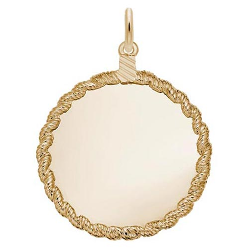 10K Gold Medium Twisted Rope Disc Charm by Rembrandt Charms