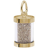 10K Gold Cuba Sand Capsule Charm