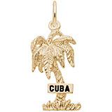 10K Gold Cuba Palm Tree