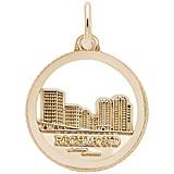 10K Gold Richmond Skyline Charm by Rembrandt Charms
