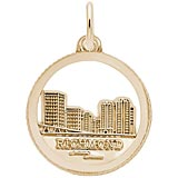 14K Gold Richmond Skyline Charm by Rembrandt Charms