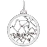 Sterling Silver Whiteface Mountain Charm by Rembrandt Charms
