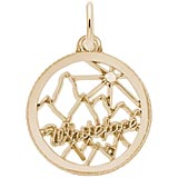 14K Gold Whiteface Mountain Charm by Rembrandt Charms