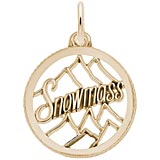 Gold Plate Snowmass Charm by Rembrandt Charms