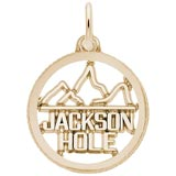 Gold Plate Jackson Hole Charm by Rembrandt Charms