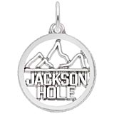 14K White Gold Jackson Hole Charm by Rembrandt Charms