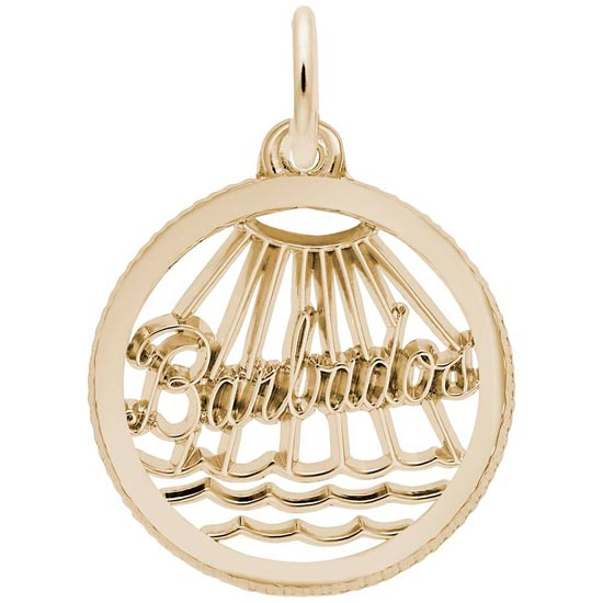 Gold Plate Barbados Faceted Charm by Rembrandt Charms