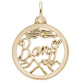 10K Gold Banff, Canada Faceted Charm by Rembrandt Charms