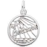 14K White Gold Vancouver Faceted Charm by Rembrandt Charms
