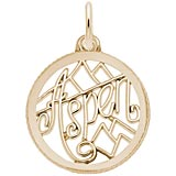 10K Gold Aspen, Colorado Faceted Charm by Rembrandt Charms