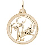 Gold Plate Fort Worth Faceted Charm by Rembrandt Charms