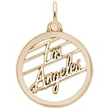 Gold Plate Los Angeles Faceted Charm by Rembrandt Charms