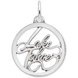 14K White Gold Lake Tahoe Charm by Rembrandt Charms