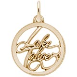 Gold Plate Lake Tahoe Charm by Rembrandt Charms