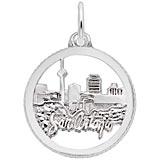 14K White Gold San Antonio TX. Skyline Charm by Rembrandt Charms