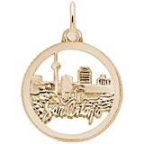 10K Gold San Antonio TX. Skyline Charm by Rembrandt Charms