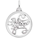 14K White Gold Palm Springs Faceted Charm by Rembrandt Charms