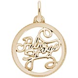 10K Gold Palm Springs Faceted Charm by Rembrandt Charms