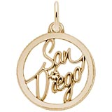 10K Gold San Diego Faceted Charm by Rembrandt Charms