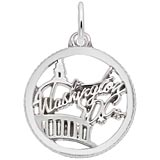 Sterling Silver Washington D.C. Faceted Charm by Rembrandt Charms