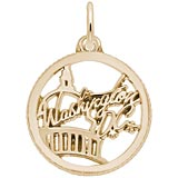 Gold Plated Washington D.C. Faceted Charm by Rembrandt Charms