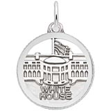 14K White Gold White House Faceted Charm by Rembrandt Charms
