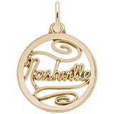 14K Gold Nashville Faceted Disc Charm by Rembrandt Charms
