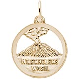 14K Gold Mt. St. Helens Washington Charm by Rembrandt Charms