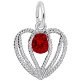 Sterling Silver Held in Love Heart - 01 Jan
