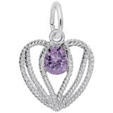 Sterling Silver Held in Love Heart - 02 Feb