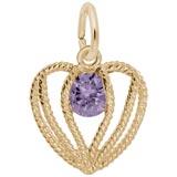 14K Gold Held in Love Heart - 02 Feb