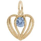 14K Gold Held in Love Heart - 03 Mar