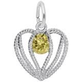 Sterling Silver Held in Love Heart - 11 Nov