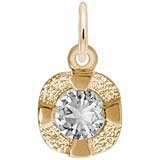 Gold Plate Petite Birthstone - 04 Apr