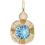 14K Gold Petite Birthstone - 12 Dec