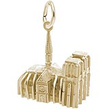 14K Gold Notre Dame Cathedral 3D