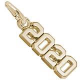 10K Gold 2020 Year Charm