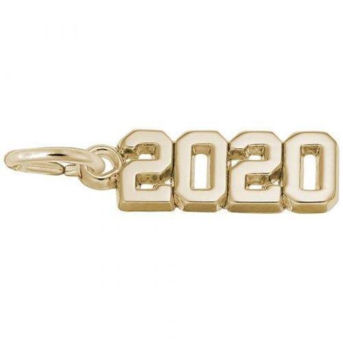 Rembrandt 2020 Year Charm, 14k Yellow Gold